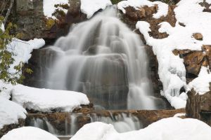 Winter Hawk Falls by somadjinn