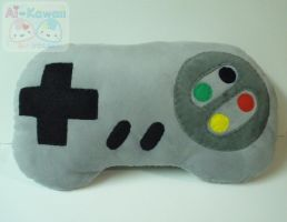 Retro Nintendo Game Controller Pillow by LiLMoon