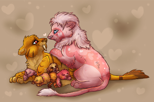 love lions by Mango-Blossom