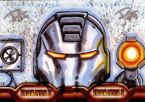 IM2 Sketch Cards: War Machine by FrankRapoza
