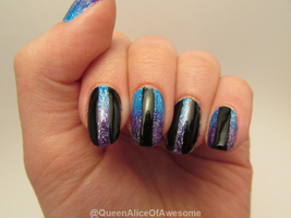 Cutout Gradient Nails by QueenAliceOfAwesome