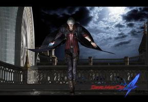 Devil may cry 4 - a somber Nero by Light-Ferron