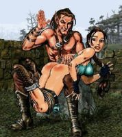 Elf Spanking Naughty Lara Croft Animated by poopoopie