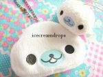 Kawaii Mamegoma Plush Keychain by icecreamdrops