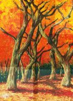 Autumn trees by weaponsmaster