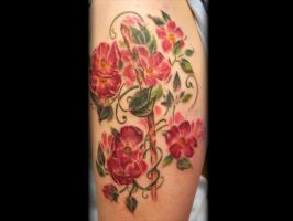 Pretty Roses Tattoo done by Sean Ambrose by seanspoison