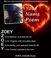 Name poem ZOEY by Anubis123456