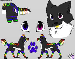 Rainbow Wolf Auction-CLOSED by Wolfies--Adopts