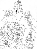 FREE TO COLOR Castlevania Hunter D WIP 2 by Aremke