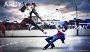 Tommy and Ardy in Action by AngelDesigns2013