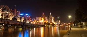 Melb City Night Panorama by DanielleMiner