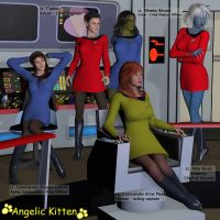 Star Trek - USS Minerva's Senior Officers by Angelic-Kitten-Art