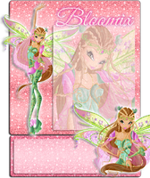 Flora Bloomix Journal Skin 1 by MsKittenCreations
