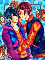 Free! - Haru and Rin - Mistletoe by Saayi--san