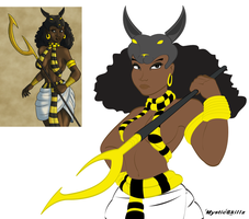Priestess of Anubis - Request by mystic-skillz