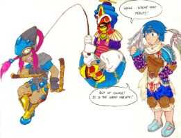 Baten Kaitos: Fishing by Vieve-Kethrun