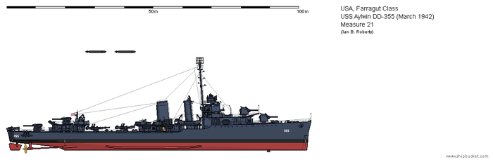 USS Aylwin DD-355 (March 1942) - Measure 21 by ColosseumSB