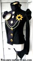 Coat with Clock Gear Brooch by ByKato