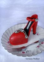 Red shoe Cupcake by Verusca