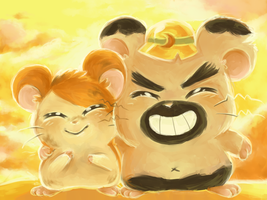 Hamtaro and Boss by Pinkproposal