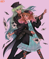 Ukyo and Heroine (Amnesia) by Dasyeeah