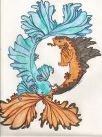 Pieces Koi Fish Tattoo Design by FoxLady345