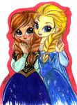 practice elsa and anna by selene-nightmare69