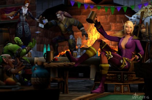 Commission: Just Another Evening In Goldshire by Belvane