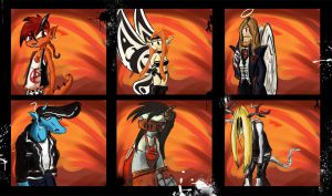 Heavy metal devil collection 9 by Red-bat