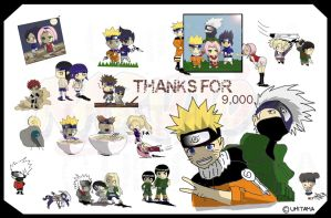 T.Y. for 9,000 - Naruto Chibis by Umitama