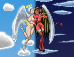 Heaven and Hell - Full Color by MechaGhidorah