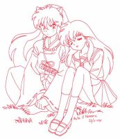 kagome and Inuyasha by usagisailormoon20