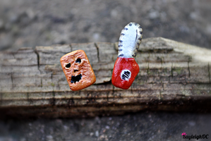 Evil Dead Earrings by KayleighOC