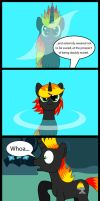 Brimstone Uses the Mirror Pool by VincenttheCrow