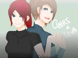 Claire x Leon by CatherinexxKC
