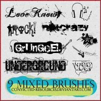 Mixed brushes. by convicted-resources