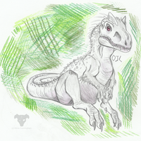 Baby Indominus Sketch by NeonBoneyard