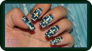 Holy Mountain (Athos/Greece) inspired nail art by Danijella