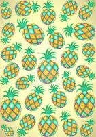 Pineapple Pastel Colors Pattern by Bluedarkat