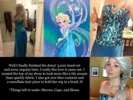 Elsa Cosplay Update by NostalchicksCosplay