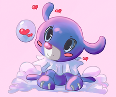 Lovely Popplio by Nipini