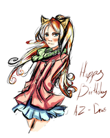 Happy Birthday Az-Drus by ConspicioPotenStilus