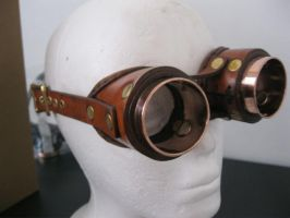 Brown Goggles - front angle by passbyguy