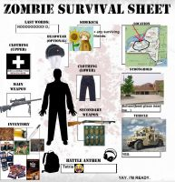 Zombie Survival Sheet Meme by Avatar2016