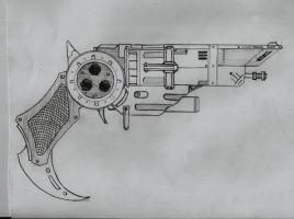 steampunk pistol by son-of-synapse