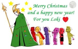 Merry Christmas and a Happy New Year Loki by TigerSoul6