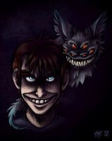 What makes a monster smile... by MacGreen