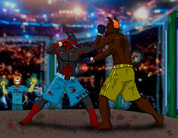 MMA - Linkin vs. Anubis by RecycledSushi