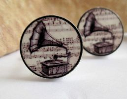 Music Mens Cufflinks by baronyka