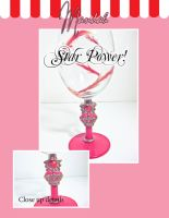 Mars Star Power! Wine Glass by ForesakenFaerie
